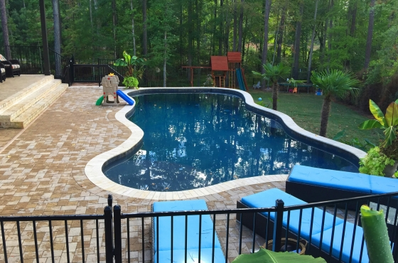 Pool and patio by MarDon Construction